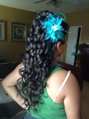 cute curly hairstyles quinceaneras