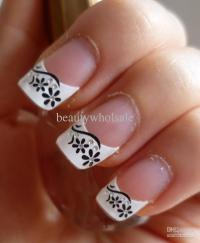 French Manicure Nail Art Designs 15 - Inkcloth