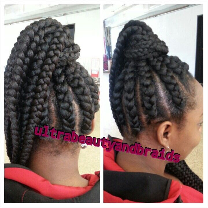 Short Hair Updo With Braids