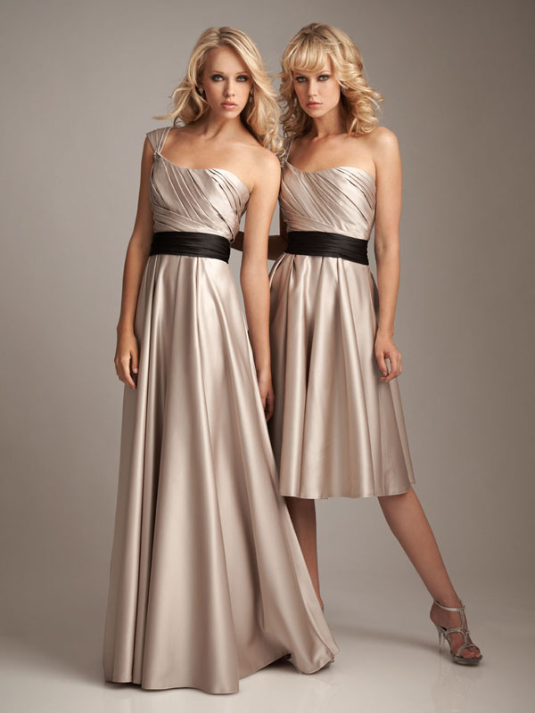 Champagne Colored Bridesmaid Dresses - Inkcloth