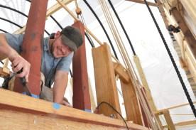Andrew working on belfry