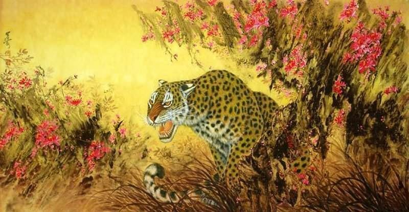 Chinese Leopard Painting 4682006, 66cm X 130cm(26〃 X 51〃
