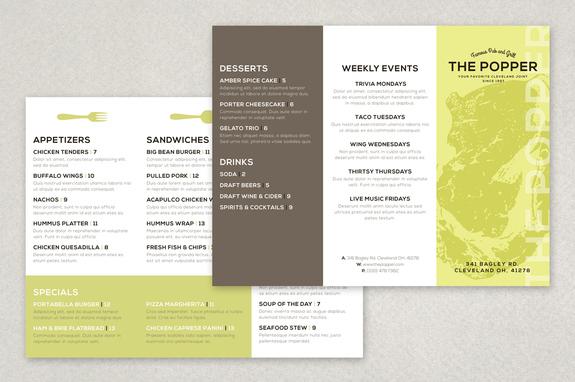 Modern Restaurant Brochure Template Inkd