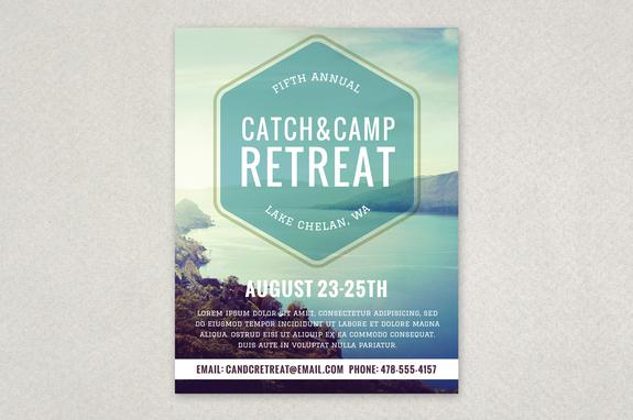 Retreat Flyer Template Ideal Vistalist Co