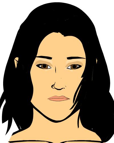 Eye make-up for comic character