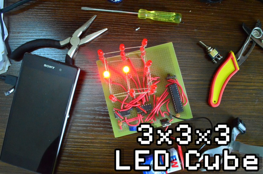 3x3x3 Led Cube Circuit Project Time For Science
