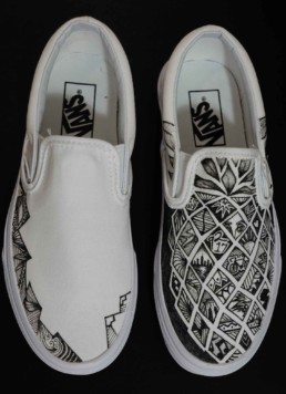 Drawing On Vans : drawing, Inked, Kicks, Based, Painted, Shoes, Adults,, Children,, Toddlers, Infants