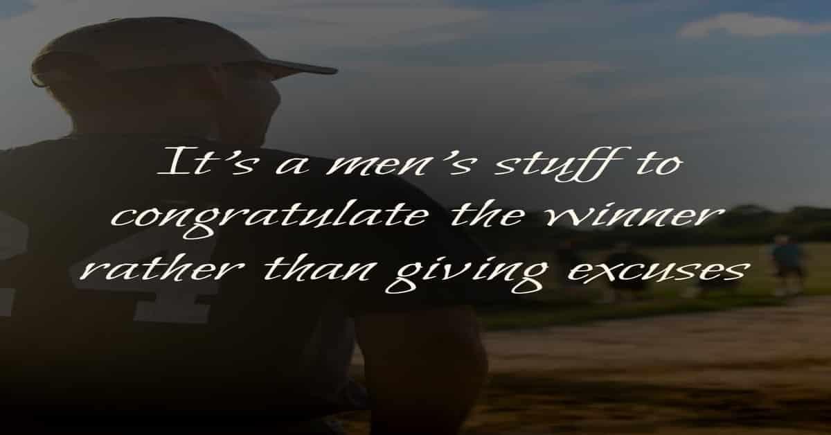 Quote on Sportsman spirit