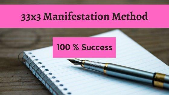 33x3 manifestation method