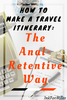 make a travel itinerary