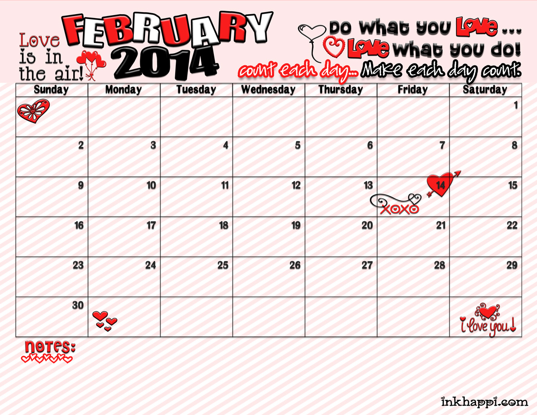 February Calendar And Printable Is Here