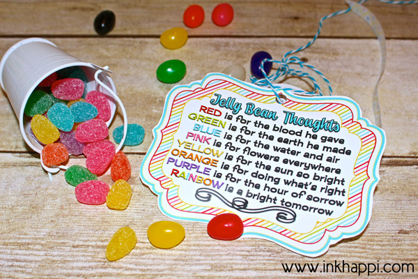 Jelly Bean Thoughts For Easter Amp Free Printable Gift Tags