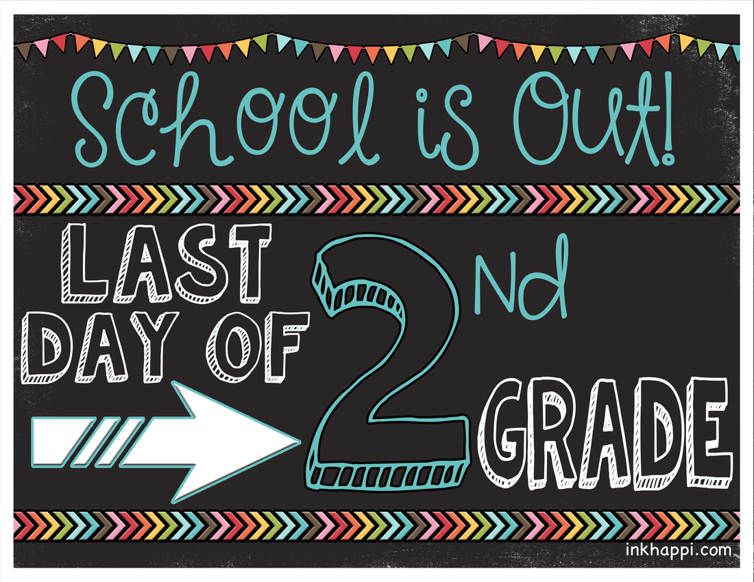 Last Day Of School Photo Prop Signs Free Printables