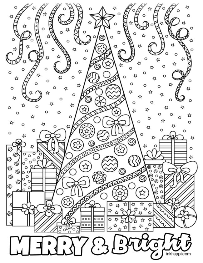 Christmas Coloring Pages and some fun Christmas jokes