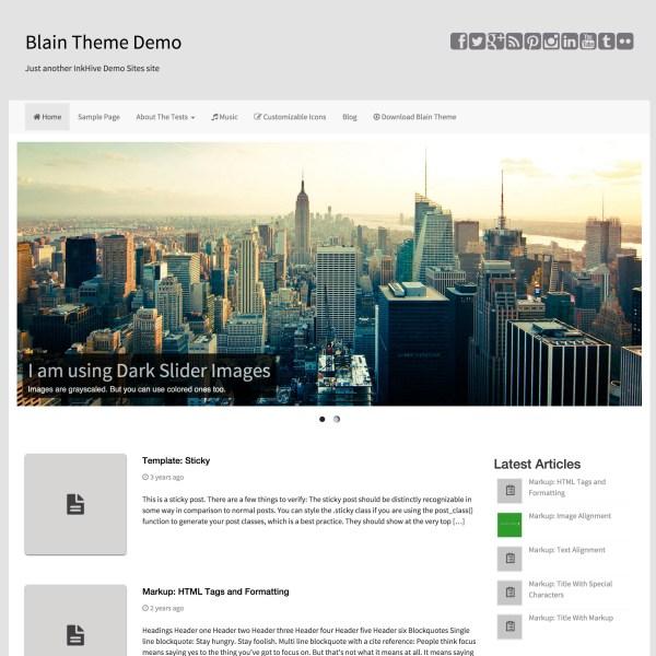 Blain - Minimal, Responsive & Bootstrap 3 based Free WordPress Theme