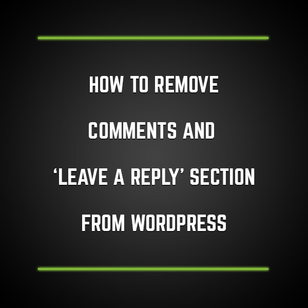 I Have Received Requests From Many Users Who Use Our Themes For Their Business Blogs To Disable The Comments