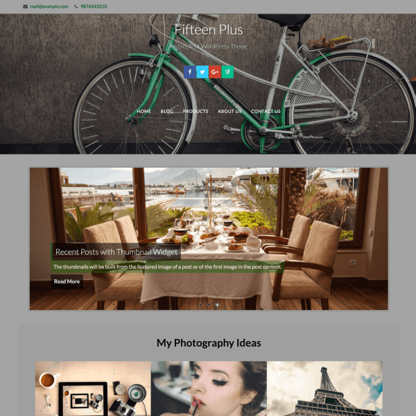 Fifteen Is The Finest Magazine Or Portfolio WordPress Theme It Comes With Stunning Animations Custom Widgets Multiple Pages Powerful Responsive Slider