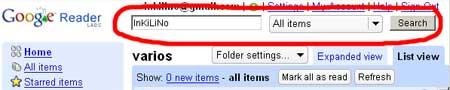 Buscador en Google Reader