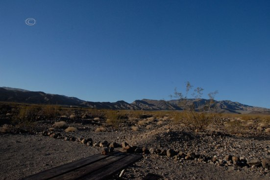Emigrant Campground view of the desert