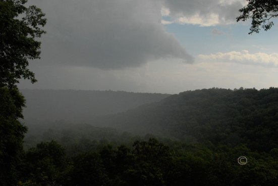 Rain over the Green River Ravine