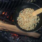 Toasted pinenuts...