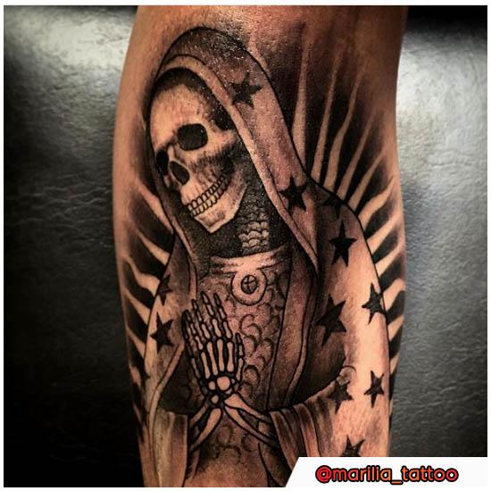 La Santa Muerte Tattoo Significato