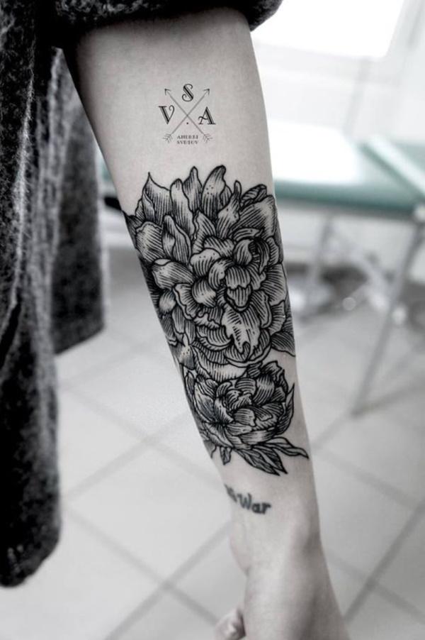 Masculine Flower Tattoo : masculine, flower, tattoo, Beautiful, Floral, Tattoos, Designs
