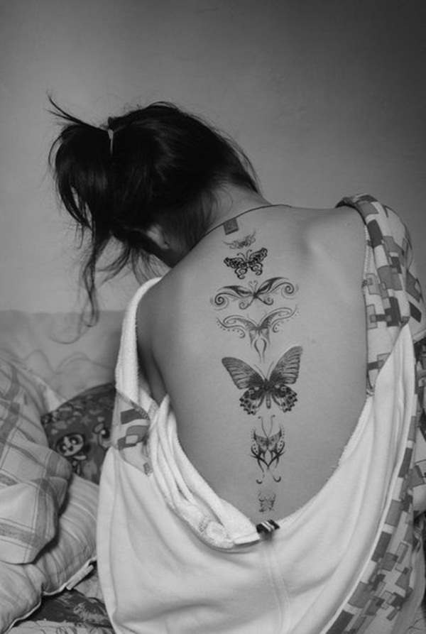 Black And White Butterfly Tattoo : black, white, butterfly, tattoo, Butterfly, Tattoo, Designs, Charm