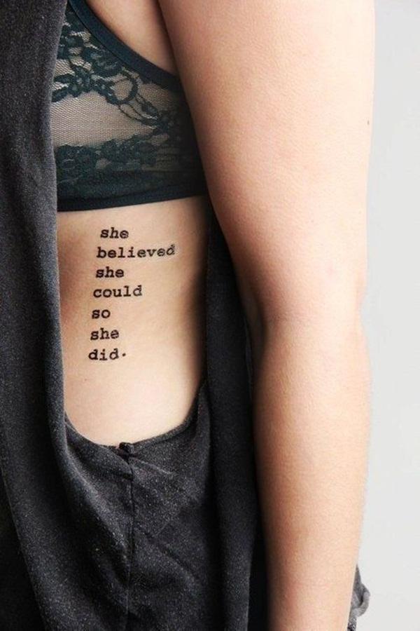 Side Quote Tattoo : quote, tattoo, Quote, Tattoo, Designs, Girls