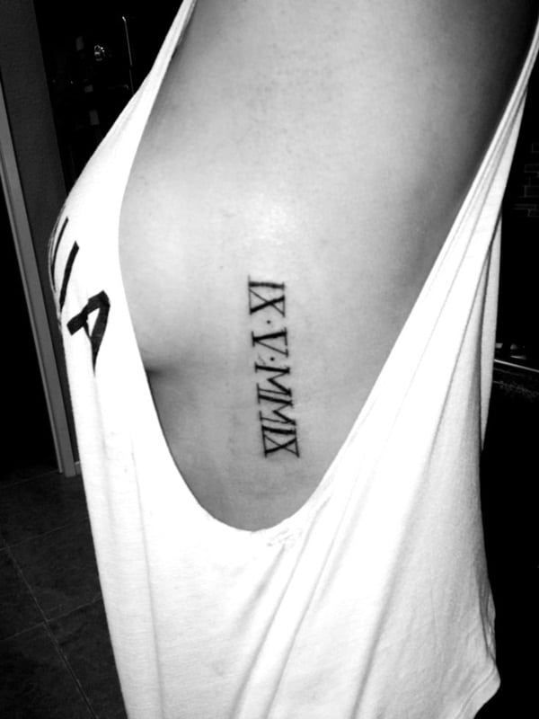 2020 Roman Numerals Tattoo : roman, numerals, tattoo, Classic, Roman, Numerals, Tattoo, Designs