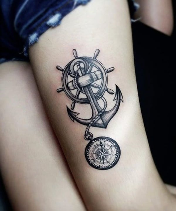 Mens Anchor Tattoo : anchor, tattoo, Amazing, Anchor, Tattoo, Designs, (with, Meanings)