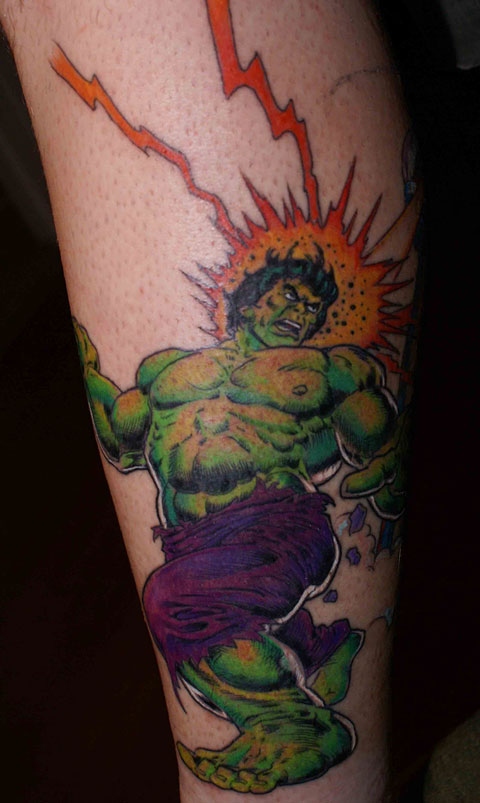 David Spencers Hulk tattoo by Alfie Lamberger from flickr