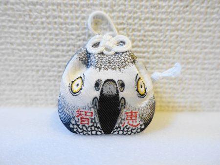 愛鳥祭で入手したインコお守り(ヨウムお守り)