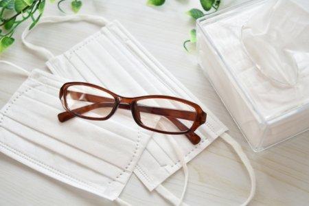 鳥アレルギーの原因物質の脂粉を吸わないために、ケージ清掃時はマスク・メガネを着用