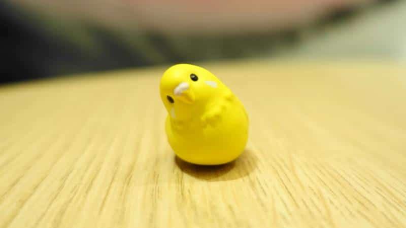 こーどの鳥さん2のセキセイインコ(黄色)