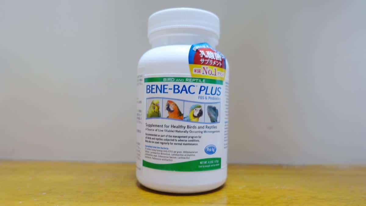 インコ・文鳥を飼う愛鳥家から高評価の乳酸菌サプリメント「バードベネバックパウダープラス」のパッケージ