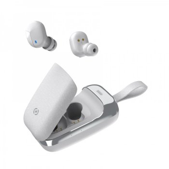 Auricolare Bluetooth IN-EAR con Caricabatterie Portatile Celly col.bianco