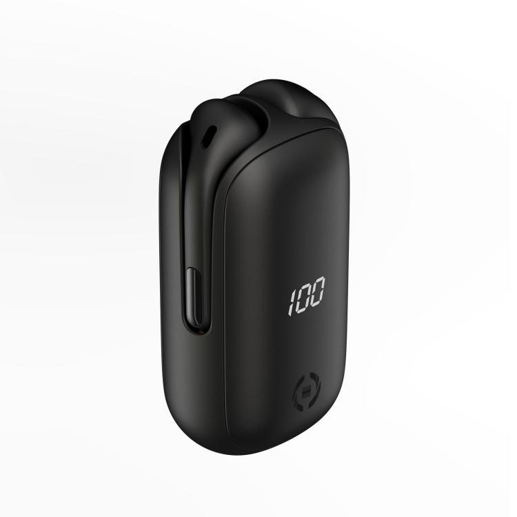 Auricolare Bluetooth con Caricabatterie Portatile Celly col.nero