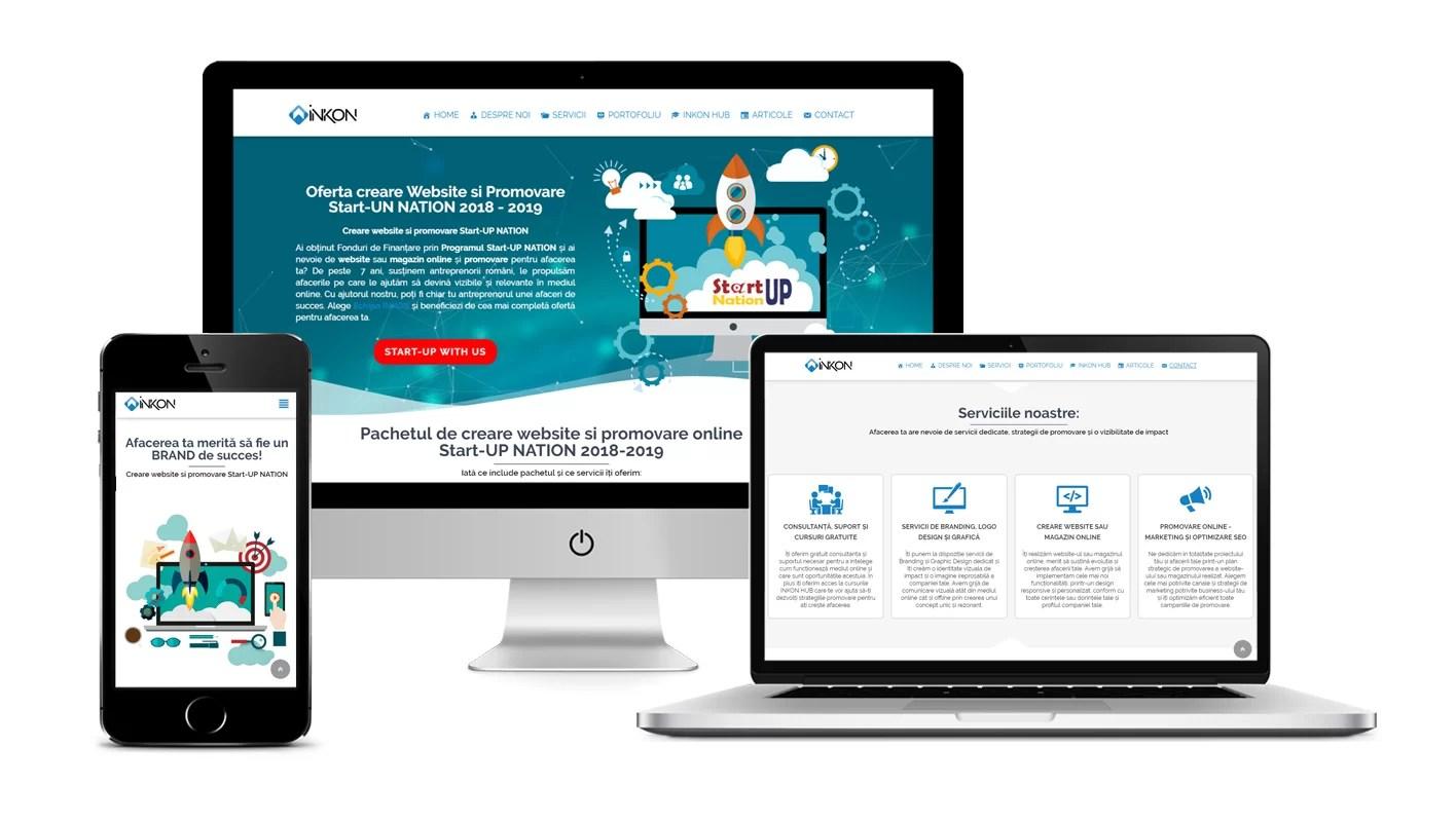 creare website si promovare start-up nation , creare pagina web site si promovare online start up nation romania 2018 - 2019