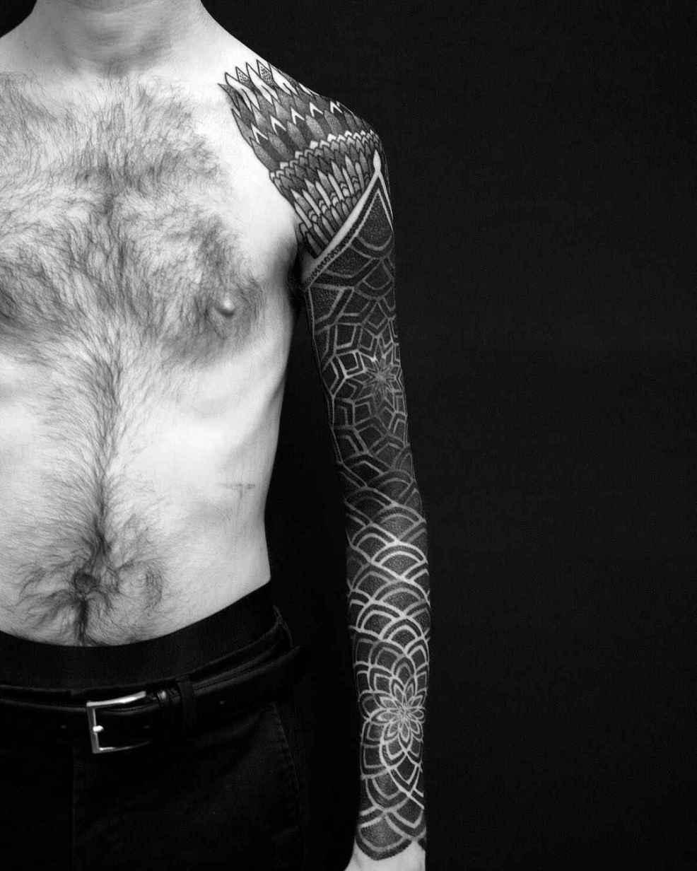 орнаментальные татуировки Matt Black