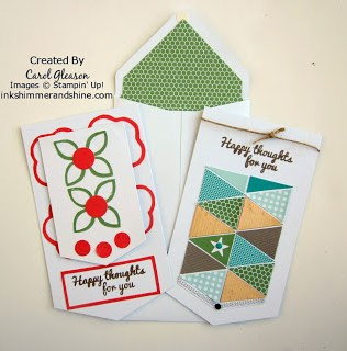 Geometrical and Flower Card from June 2015 Paper Pumpkin kit