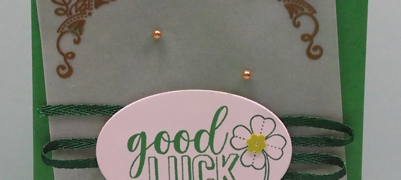 Green Good Luck gol-embossed vellum card with the Amazing Life stamp set by Stampin' Up!