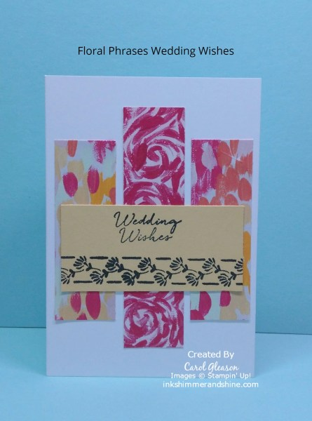Wedding Wishes with Floral Phrases and Garden Impressions.