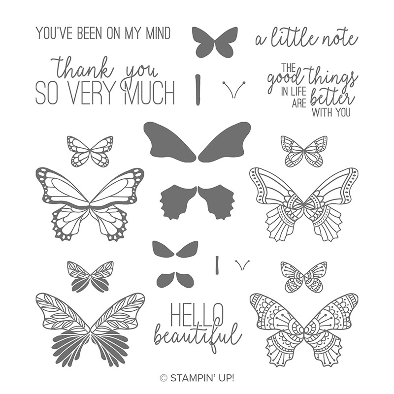 Butterfly Gala Stamp set by Stampin' Up!