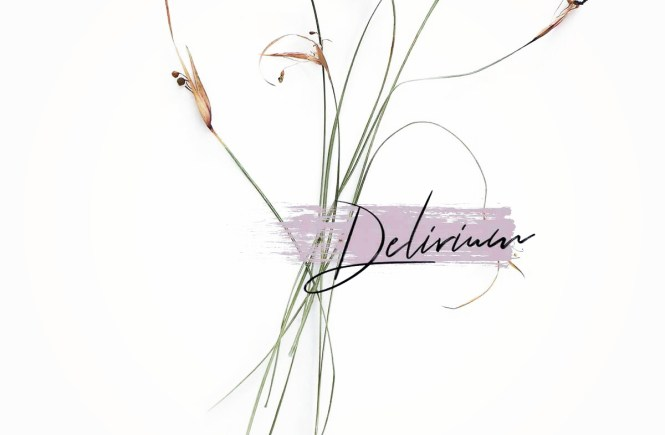 Minimal flower wallpapers that says Delirium - A Vague World of Existence by Kaaya Faye