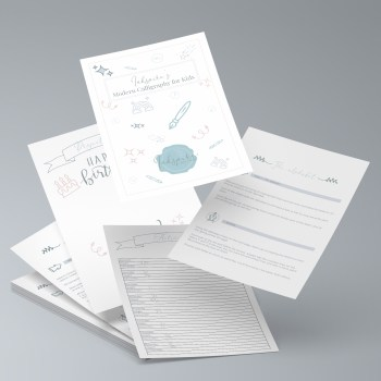 Modern Calligraphy for Kids kits
