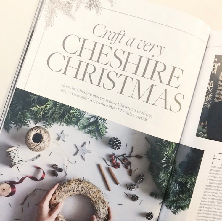 Cheshire life. Cheshire Life Christmas Gift Guide. Black and gold Christmas crackers. Cheshire life interview with INKspire.