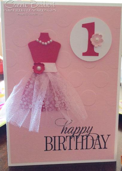 Tutu Dress Birthday Card Inkspired Treasures