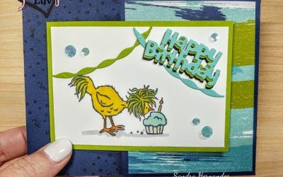 Fun Fold February Continues with the Hey Birthday Chick Stamp Set