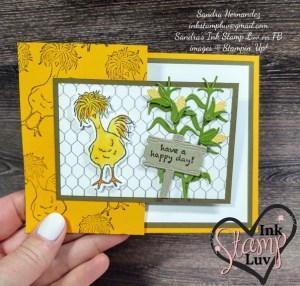 Chicken Card using Hey Chick stamp set from Stampin' Up!